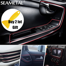 3M/Lot Car styling interior Decoration thread sticker Insert type Air Outlet Dashboard Decoration Strip Accessories Car-Styling