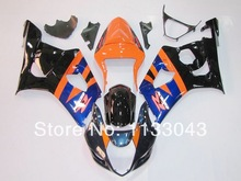 Injection For SUZUKI GSX-R1000 Blue Orange K3 03 04 GSX R1000 K3 GSXR 1000 2003 2004 GSXR1000 Fairing Kit