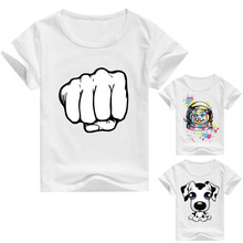 DMDM PIG 3D Printed T Shirts Baby Boys Tshirts Toddler Kids Short Sleeve T-Shirts Costume For Girls Tops Size 5 10T 10 Years Dog(China)