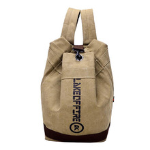 Vintage Leisure Canvas Backpack Travel Large Capacity Unisex Bucket Bag Creative Product Design For Teenager MT101153