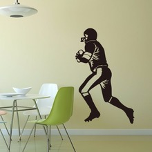 Rugby vinyl wall art decal sports home decor boys rooms decor diy wallpaper removable wall stickers(China)