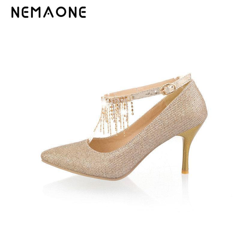 NEMAONE 2017 Ladies Sexy Thin High Heels Pumps Casual Female pointed Toe Platform Single Shoes Women Wedding Party shoes<br>