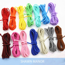 2.5MM Stretch Rubber Rope Colored  Elastic Webbing  For DIY Sewing Or Make Hair Accessories 25Meters per lot