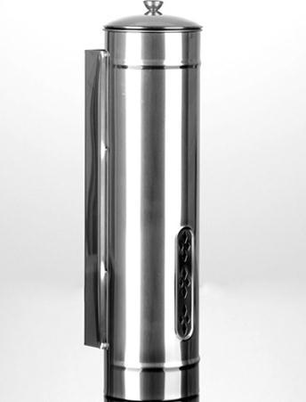 Quality Water dispenser SS201 stainless steel disposable cup holder 34xD8.5cm polished storage tank<br>