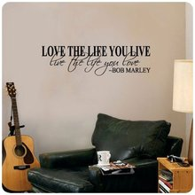 Vinilos Paredes Love The Life You Live Wall Quote Sticker Home Decor Living Room Carving Reading Window Waterproof Melestore