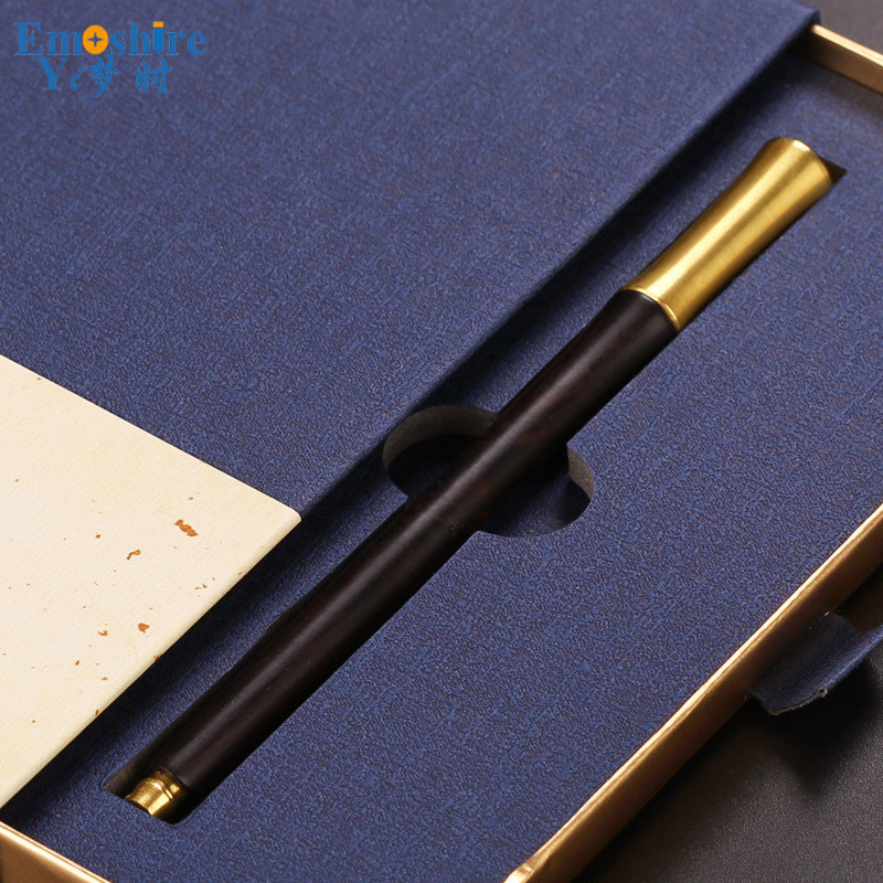 Top Roller Ball Pen High-end Office Gift Box Wooden Crafts Creative Gifts Wooden Ballpoint Pen Custom Lettering  P357<br>
