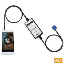 Moonet Car CD adapter mp3 AUXiliary 3.5mm cellphone AUX cable for Honda 2.3 Adapter Odyssey Pilot Prelude S2000 Insight QX004(China)