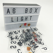 A6 Size Led Cinemai Lightbox Power AA Battery or USB Cable With 90 PCS Sign Letters DIY A6 Size led Lightbox