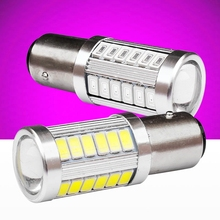 2PCS 1157 BAY15D P21/5W 33 SMD 5630 5730 Led Car Stop Lamp Rear Tail Bulb 33SMD Auto DRL Daytime Running Light White Red 12V 2X