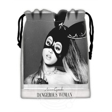 Best Singer Ariana Grande 02 Drawstring Bags Custom Storage Printed Receive Bag Compression  Storage Bags Type Bags Size 18X22cm