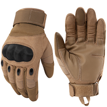 Army Tactical Hard Knuckle Full Finger Gloves Military Paintball Airsoft Combat Bicycle Shooting Antiskid Fighting Workout New(China)