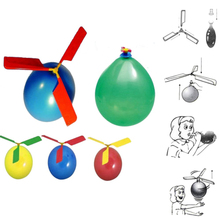 Toys New Hot Inflatable 1pc Funny Balloon Helicopter Flying Outdoor Playing Educational Kids Toys Balloons(China)