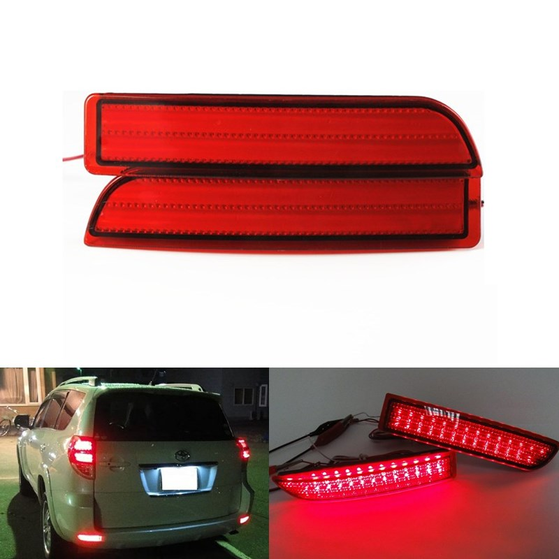 a pair car styling led red rear bumper reflector lights Auto Tail light parking warning lamp for Toyota RAV4/PREVIA/Alphard 2010<br><br>Aliexpress