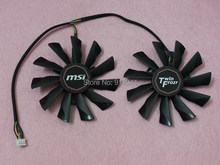 95mm Video Card Dual Fan Replacement PLD10010S12HH 40mm 12V 0.40A 4Wire 4Pin for MSI R9 270X 280X 290 290X Twin Frozr B