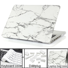 HOT Marble Texture Case Protective Laptop Cover for macbook Air 13 Pro 13 New PRO touch bar+Keyboard Cover+film+Dust plug