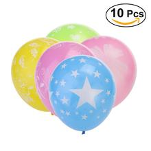 10pcs Round Latex Balloons Printed Balloon for Weddng Party Decoration 2.8g Balloons Toy for Kids Having Fun