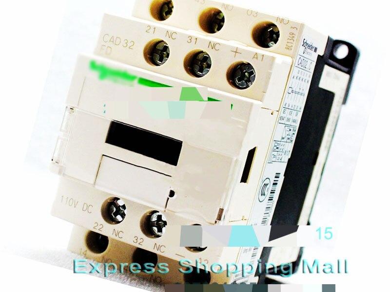 New CAD32FDC DC110V TeSys D series Contactor Control Relay 3NO+2NC<br>