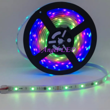 5m/roll DC12V SMD5050 RGB led tape addressable Flexible Digital Ribbon 30led/m external IC ws2811 led pixel strip light(China)