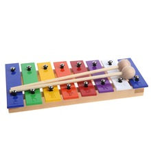 8 Notes Wooden Children Kid Xylo-phone Glockenspiel Musical Instrument Music Toy New #K4UE# Drop Ship(China)