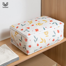 luluhut quilt storage bag wardrobe organizer large square pillow clothes packing bags with zipper Moisture-proof finishing bag(China)