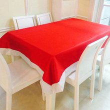 Hot132*178cm Red Happy Chirstmas Tablecloth Table Decoration Table Cloth for Christmas Party Dinner Home Kitchen Decoration 2017