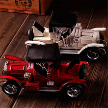 Antique Mini Car Metal Crafts Vintage Car Decoration For Children Car Kids Birthday Gift  Home Decoration Accessories Miniaturas