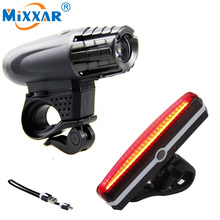 RU USB Rechargeable Taillight MTB Safety Lamp Built-in Battery Waterproof LED Bike Front/Rear Light Bicycle Headlight Cycling
