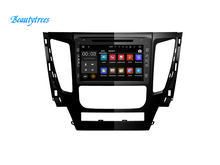 Beautytrees In dash touch screen car GPS autoradio multimedia system For MITSUBISHI PAJERO 2016 2017 car radio dvd player(China)