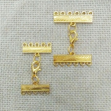 necklace clasp multilayers 5 holes beads spacers strands rows lobster swivel metal chains jump rings hooks kolye lariat jewelry(China)