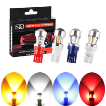 T10 Canbus OBC Error Free Bulbs Interior Emitter LED DRL 194 W5W Car lamps External Auto Lights Xenon White /Red/Blue/Amber(China)