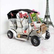Handcrafts antique classic car model home decoration ornaments crafts new year collection gift 35*15.5*23cm(China)