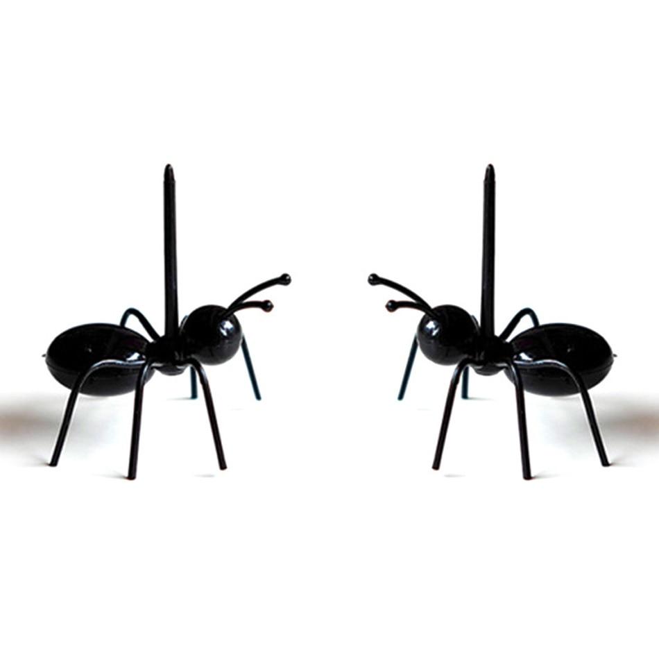 12pcs-Lot-Creative-Plastic-Ants--Fruit-Picks-Black-Lovely--Stick-Picks-kitchen-Accessories- (1)