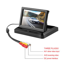 2017 New 5 Inch Foldable HD Car Rear View Monitor Reserving Digital LCD TFT Color Display Screen Vehicle Rearview 2 Video Input(China)