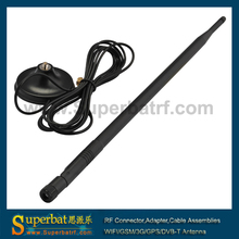 Superbat 2.4GHz 12dBi Omni WiFi Antenna Aerial Booster RP-SMA Cable 280cm for IEEE 802.11b/g Wireless Router WLAN PCI card