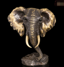 ZSR914+++ China Folk Bronze Copper Abstract Sculpture Elephant Head Art Decoration Statue(China)