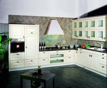 PVC/vinyl kitchen cabinet(LH-PV062)(China)