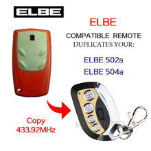 High quality 433.92Mhz copy remote control ELBE 502a ELBE 504a garage door remote control with battery(China)