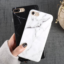 Luxury Marble Pattern i 8 Phone Case For iPhone 8 Plus Case For iPhone8 Plus Black Phone Accessories Coque X 7 Plus 6 6S 5 S SE(China)