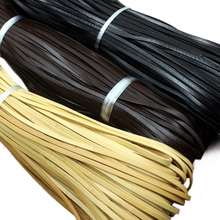 10M Flat Genuine Leather Rope Cord for Bracelet Necklace Strap Shoes Bag Apparel Sewing DIY Supplies 3/10mm 045-666(China)