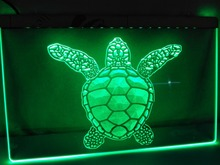 LK125- Sea Turtle Animals Display NEW LED Neon Light Sign(China)