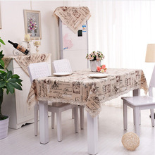 Portrait of England Simple Table Cloth Wedding Table Covers European style Linen Lace Tablecloth for Kitchen Dining Table Cover