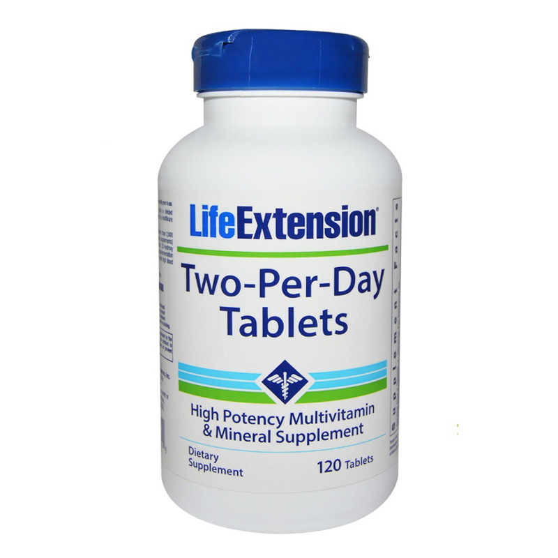 Life Extension Two-Per-Day Tablets High Potency Multivitamin &amp; Mineral Supplement 120 tablels<br>