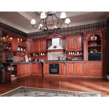 2016 new design hot sales customized solid wood kitchen cabinet  wooden Kitchen Furniture OP12-L010