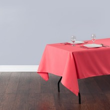 Fedex IE 60x126 in./230x320cm Rectangular Polyester Tablecloth Coral for Wedding Event Banquet Party 20/Pack(China)