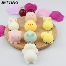 Cute Mini Soft Silicone Squishy Cat Toy Fidget Hand Squeeze Pinch Toy Cell Phone Accessories Cat//Sea Lion/pig slow rising press