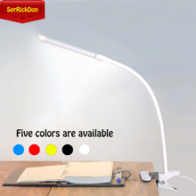 LED Computer work table lamp Book Lights  learning table  lamp  Desktop table arm  lamps for computer clip USB 5V Variable light