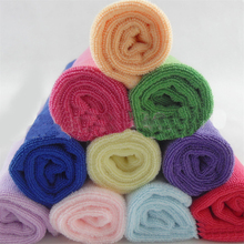 10pcs New Candy Color Practical Luxury Soft Fiber Cotton Cloth Fabric Face Hand Towel Free Shipping High Quality