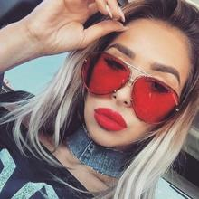 red aviator sunglasses women Retro Glasses men luxury brand design mirror shades metal frame Driving glasses black silver lens