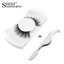 1Pair Natural False Eyelashes kits Makeup 3d Mink Lashes Eyelash Extension Make Up mink strip eye lashes + eyelashes Tweezers(China)