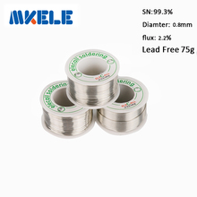Free shipping Lead Free Solder Wire Tin 0.8mm 75g Rosin Core Tin Lead Rosin Roll Flux Reel Lead Melt Core Soldering Tin